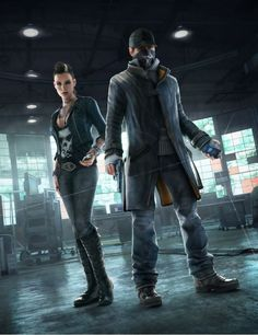 Watch dogs artwork - Clara Lille and Aiden Pearce #Cyberpunk