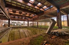 Indoor pool of the Grossinger's Catskill Resort Hotel in New York State.