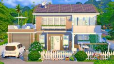 Sims 4 House Plans, Sims 4 House Building, Sims 4 Houses Layout, House Layouts, Sims 4 Family House, Sims Freeplay Houses, Sims Free Play, Sims 4 House Design, Casas The Sims 4