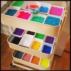Hama perler storage by Marie Gjerløv & Perler bead storage | Pinterest | Bead storage Perler beads and Storage