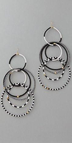 Noir Jewelry, Rose Gold Jewelry, Beaded Jewelry, Fine Jewelry, Handmade Jewelry, Jewelry Making, Earrings Handmade, Schmuck Design, Bridesmaid Earrings