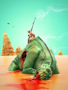 #moebius tribute. #zbrush #keyshot #3d #illustration