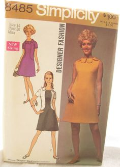 Simplicity 8485  Mod 1960s Color Blocked Dress by EmSewCrazy, $5.00