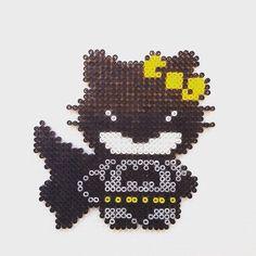 Batman Hello Kitty hama beads by hadavedre