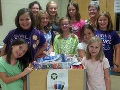 These GAs collected 100 toothbrushes to donate to a local shelter in honor of the 100th birthday of missions education for girls. Happy Birthday, GA! #GA100