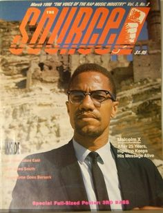 I remember back in the day my brother used to get the source weekly.  The source - 1990 melcom x cover #memories #sourceMagazine