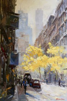 Painter Irina Alexandrina, Autumn in NYC
