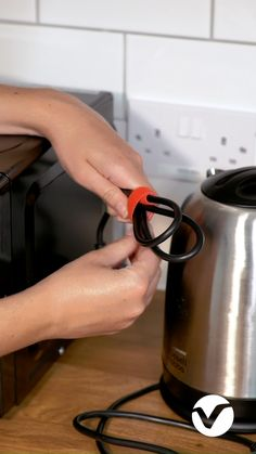 Shop VELCRO® Cable Ties from VELCRO® Brand in a range of colours and sizes. The perfect way to keep cables tidy at home, school or work. Home Organisation Tips, Kitchen Organization, Organization Ideas, Kitchen Worktops, Kitchen Appliances, Velcro Cable Ties, How To Be More Organized, Shabby Chic Lamps, Cable Organizer