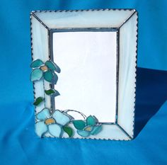 Spring Flowers 5 x 7 Stained Glass Picture Frame by hobbymakers, $28.00