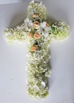ჯვარი Crosses, Funeral, Flower Art, Hanukkah, Crown, Wreaths, Flowers, Home Decor, Homemade Home Decor