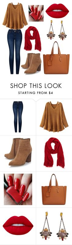 """""""Casual fall #5"""" by sabiheja on Polyvore featuring 2LUV, WithChic, Nine West, Violeta by Mango and Lime Crime"""
