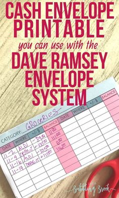 Printable Cash Envelope For The Dave Ramsey Envelope System Printable Cash Envelope you can use with the Dave Ramsey envelope system! Using this PDF to help with my budget stuff! Dave Ramsey Envelope System, Cash Envelope System, Envelope Budget System, Cash Envelope Budget, Budget Envelopes, Cash Envelopes, Budgeting Finances, Budgeting Tips, Budgeting System