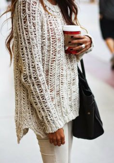 Love this winter white sweater