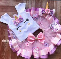 Baby Girl Dress Patterns, Baby Girl Dresses, Baby Dress, Unicorn Themed Birthday, 1st Birthday Girls, Girl Frock Dress, African Dresses For Kids, Birthday Fashion, Unicorn Outfit