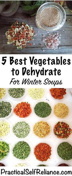 5 Best Vegetables to Dehydrate for Winter Soups