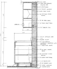 Technical Drawing Autocad Kitchen Cabinetry Section Interior