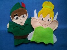 Peter Pan and Tinker Bell Puppets $11.99 Hand Puppets, Finger Puppets, Exercise For Kids, Felt Food, Pretend Play, Peter Pan, Tinker Bell, Creations, Projects To Try