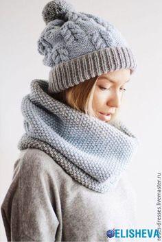 Красивые и трендовые женские шапки вязаные спицами