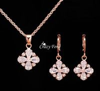 Item Type: necklace earrings Jewelry Sets Gender: Women,Girls Style: Trendy Material:Cubic Zirconia