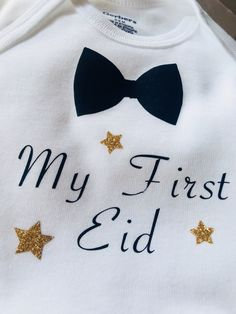 393129b487de Excited to share this item from my #etsy shop: My First Eid baby onesies