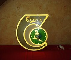 Horloge bière Carlsberg. Brasserie Vintage. par OldAntiqueFrance