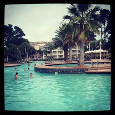 Hotel pool in Panama City Florida