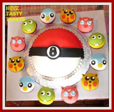 I can make the Pokeball cake, not skilled enough for the character cupcakes though
