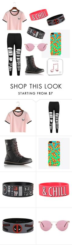 """""""Challenge accepted #12"""" by dragqueenchicken ❤ liked on Polyvore featuring SOREL, The Small Print., Marvel and Oliver Peoples"""
