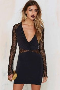 0a491c579d7 Nasty Gal In the Right Lace Bodycon Dress