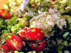 Ine Garten's Tabbouleh recipe // reviews say to cut back on the salt, and salt to taste.