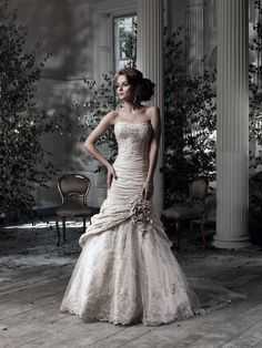 Nova Scotia | Ian Stuart Bride Bridal Gowns: Ian Stuart Mermaid Wedding Dress with Strapless Neckline and No Waist/Princess Seams Waistline Style Number:32838179 Price:$ ($2000 - $3000)