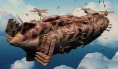 Laputa helicopter airship