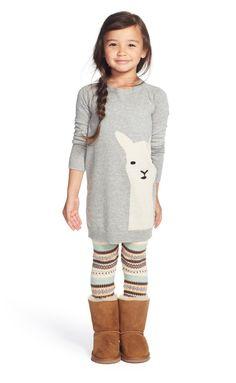 Tucker + Tate Fair Isle Sweater Leggings (Toddler Girls, Little Girls & Big Girls) available at Toddler Girl Style, Toddler Girl Dresses, Toddler Fashion, Toddler Outfits, Kids Fashion, Toddler Girls, Fashion Wear, Dress Fashion, Girls Dresses