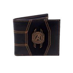Black Avengers, Marvel Avengers, Marvel Infinity, Avengers Infinity War, Badge Wallet, Stitching Leather, Metal, Bags, Art