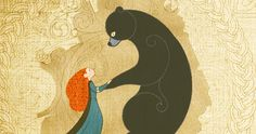 The tapestry that Elinor and Merida sew together at the end of the story. <3