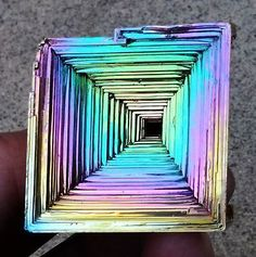 Bismuth Crystal 1.75 Inches 6.65 Oz Iridescent Rainbow Usa Grown!
