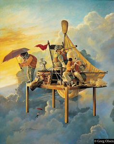 Airship Adventures - by Greg Olsen     Doesn't this painting just bring out the little kid in you and remind you of what it was like? Wasn't it great?