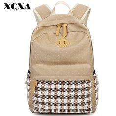 2cafa7bc3e0b XQXA Casual Women Backpack Canvas Bag Backpack Printing School Bags for Teenagers  Girls 14 Laptop Bag Bolsa Mochila High Quality-in Backpacks from Luggage ...