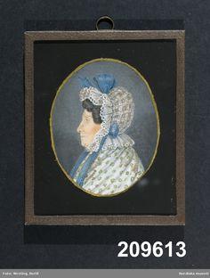 """Johanna Maria Bergström"", attributed to Marie Victoire Lemoine; Swedish, 1832. Nordiska Museet, nr. NM.0209613"