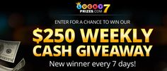 LUCKY7PRIZES: We Have a Winner! | Sweepstakes For Days