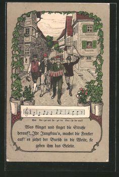 alte-AK-singende-Studenten-Lied-was-klinget-und-singet-die-Strasse Alter, Books, Inspiration, Organizations, Fraternity, Biblical Inspiration, Libros, Book, Book Illustrations