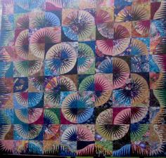 Japanese Fan ~ Quiltworx.com, made by Certified Instructor, Lucille Amos