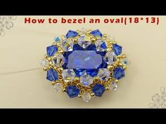 How to bezel an mm oval tutorial Jewelry Making Tutorials, Beading Tutorials, Jewelry Making Beads, Brick Stitch Patterns, Beaded Jewelry Patterns, Bracelet Patterns, Bead Jewellery, Beaded Rings, Beads And Wire