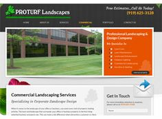 A simple design that is made fun and unique with some nice graphics. The landscaping website is gorgeous and welcoming, but also provides easy navigation and a beautiful banner.
