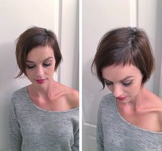 Tutorial to get Women's Modern Brunette Pixie Crop with Fringe and Baby Bangs Hairstyle Undercut Hairstyles Women, Hairstyles With Bangs, Pretty Hairstyles, Short Fringe Hairstyles, Latest Hairstyles, Pixie Cut With Bangs, Short Hair With Bangs, Pixie Bangs, Short Fringe Bangs