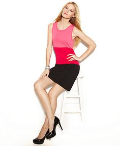 INC International Concepts Dress, Sleeveless Colorblack Shift from Macys (exclusive)