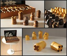 Modern Staunton Chess Set by Arthur Elliott for Anri Italy.  Cannot find this for sale anywhere.