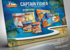 Captain Fisher Fresh Frozen Seafood  Designed By: Anas Albediwi