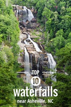 Waterfalls near Asheville: our top 10 favorite western North Carolina waterfall hikes. via @ashevilletrails