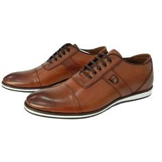 4c4af236ab2a Men s Leather Shoes  Lace Up Life Style Shoes  Taba Color Designer.